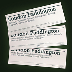GWR Carriage Window Labels - Mixed box