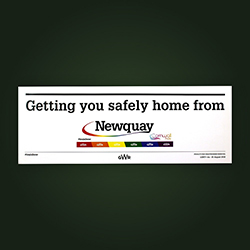 Carriage Window Labels - Newquay Pride 2018